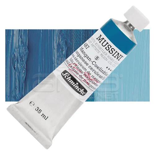 Mussini 35ml Yağlı Boya Seri:5 No:487 Manganese Cerulean Blue - 487 Manganese Cerulean Blue