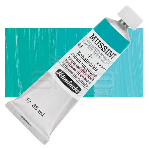 Mussini 35ml Yağlı Boya Seri:7 No:498 Cobalt Turquoise - 498 Cobalt Turquoise