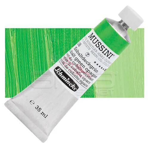 Mussini 35ml Yağlı Boya Seri:7 No:528 Cobalt Green Opaque - 528 Cobalt Green Opaque