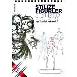 Nebahat Çağıl Moda Tasarımcıları için Stilize Figürler Çizim Blok - Thumbnail