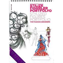 Nebahat Çağıl Moda Tasarımcıları için Stilize Figürler Portofolyo Çizim Blok - Thumbnail