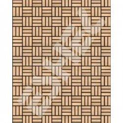 Eshel - Eshel Örgü Desenli Karton Duvar 1/50 Paket İçi:3 (1)