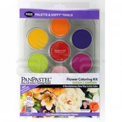 PanPastel - PanPastel Boya Seti 10lu Flower Coloring Kit 1