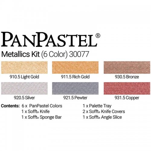 PanPastel Boya Seti 6lı Metallic Colors