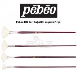 Pebeo - Pebeo 113L Seri Doğal Kıl Yelpaze Fırça