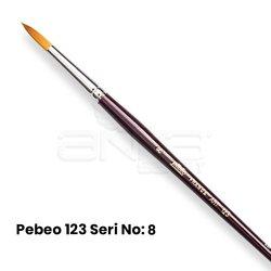 Pebeo 123 Seri Sentetik Yuvarlak Uçlu Fırça - Thumbnail