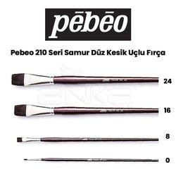 Pebeo - Pebeo 210 Seri Samur Düz Kesik Uçlu Fırça