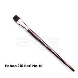 Pebeo 210 Seri Samur Düz Kesik Uçlu Fırça - Thumbnail