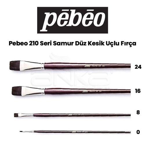 Pebeo 210 Seri Samur Düz Kesik Uçlu Fırça