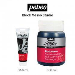 Pebeo - Pebeo Black Gesso Studio Siyah Astar Boya