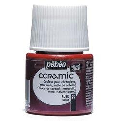 Pebeo - Pebeo Seramik Boyası 29 Ruby 45ml