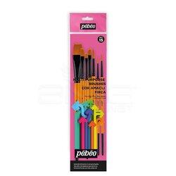 Pebeo - Pebeo Çok Amaçlı Hobi Fırça Seti 15