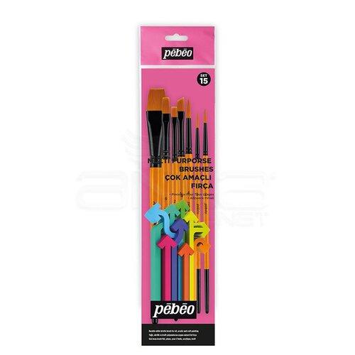Pebeo Çok Amaçlı Hobi Fırça Seti 15