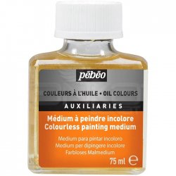 Pebeo - Pebeo Colourless Painting Medium Renksiz Boya Medyumu 75ml (1)