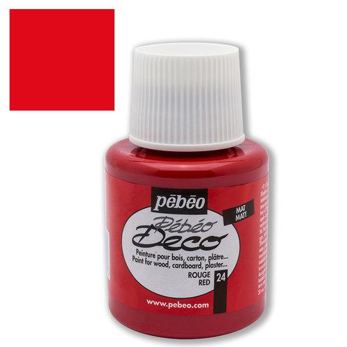 Pebeo Deco Su Bazlı Akrilik Ahşap Boyası 110ml 24 Red