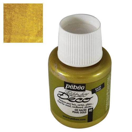 Pebeo Deco Su Bazlı Akrilik Ahşap Boyası 110ml 40 Pearl Gold