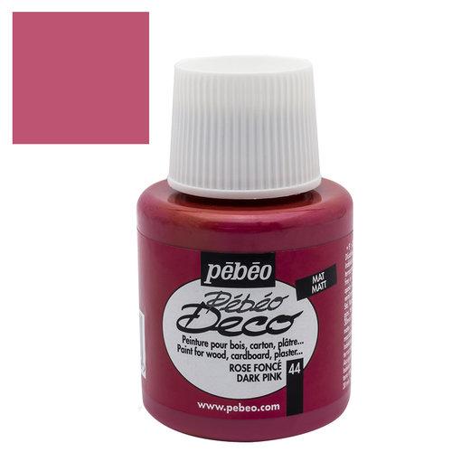 Pebeo Deco Su Bazlı Akrilik Ahşap Boyası 110ml 44 Dark Rose