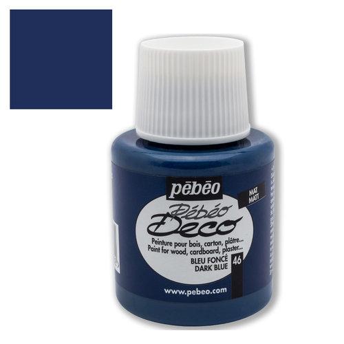 Pebeo Deco Su Bazlı Akrilik Ahşap Boyası 110ml 46 Dark Blue