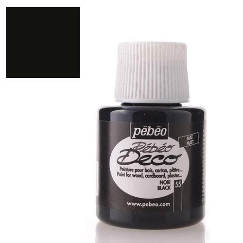 Pebeo Deco Su Bazlı Akrilik Ahşap Boyası 110ml 55 Black