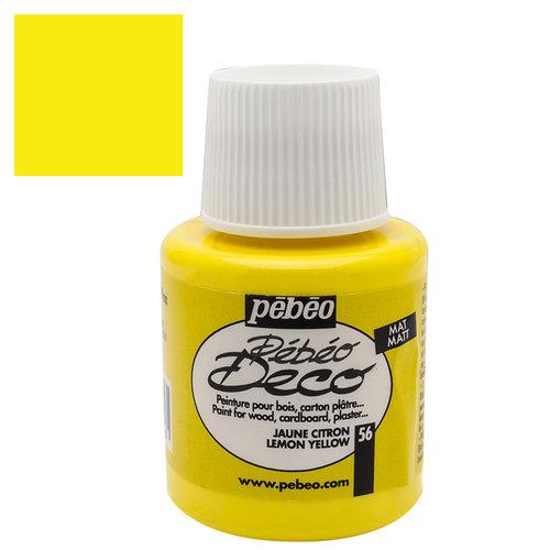 Pebeo Deco Su Bazlı Akrilik Ahşap Boyası 110ml 56 Lemon Yellow