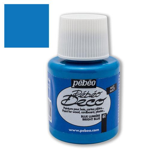 Pebeo Deco Su Bazlı Akrilik Ahşap Boyası 110ml 61 Light Blue