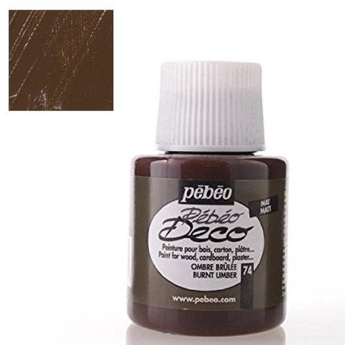 Pebeo Deco Su Bazlı Akrilik Ahşap Boyası 110ml 74 Burnt Umber