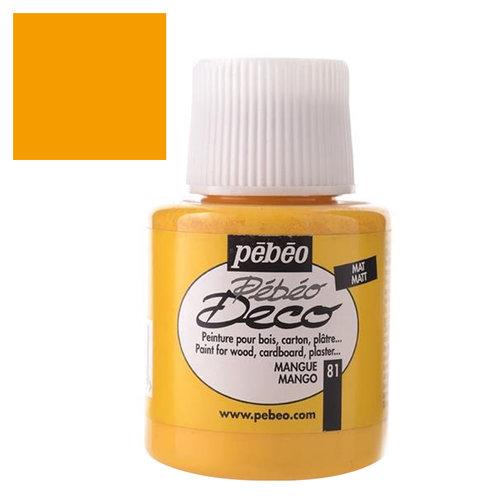 Pebeo Deco Su Bazlı Akrilik Ahşap Boyası 110ml 81 Mango Yellow