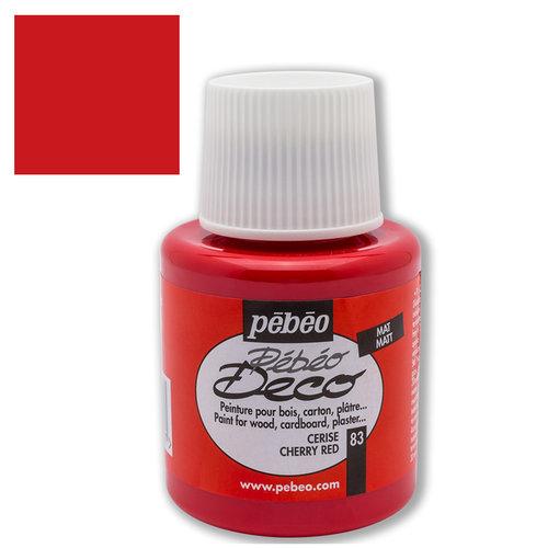 Pebeo Deco Su Bazlı Akrilik Ahşap Boyası 110ml 83 Cherry