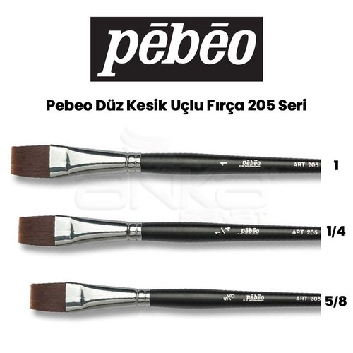 Pebeo 205 Seri Düz Kesik Uçlu Fırça