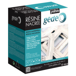 Pebeo - Pebeo Gedeo Resine Nacree Renkli Reçine Beyaz Sedef 150ml 766160