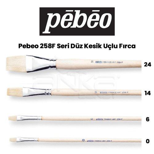 Pebeo 258F Seri Düz Kesik Uçlu Fırca