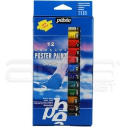 Pebeo - Pebeo Poster Paint Guaj Boya Takımı 12 Renk