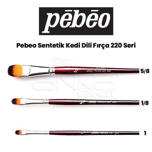 Pebeo 220 Seri Sentetik Kedi Dili Fırça