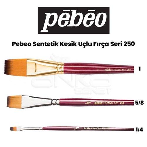 Pebeo 250 Seri Sentetik Düz Kesik Uçlu Fırça