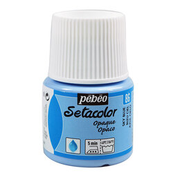 Pebeo - Pebeo Setacolor Opak Kumaş Boyası 86 Sky Blue
