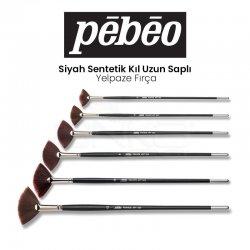 Pebeo - Pebeo Seri 223 Siyah Sentetik Kıl Uzun Saplı Yelpaze Fırça