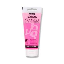 Pebeo - Pebeo Studio Fluo Akrilik 100ml Boya No:371 Pink