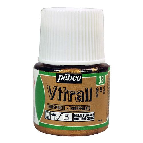 Pebeo Vitrail Şeffaf Cam Boyası 45ml Altın 38