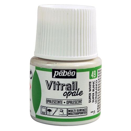 Pebeo Vitrail Opak Cam Boyası 45ml Beyaz 49