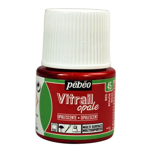 Pebeo Vitrail Opak Cam Boyası 45ml Kırmızı 45