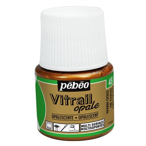 Pebeo Vitrail Opak Cam Boyası 45ml Sıcak Altın 48