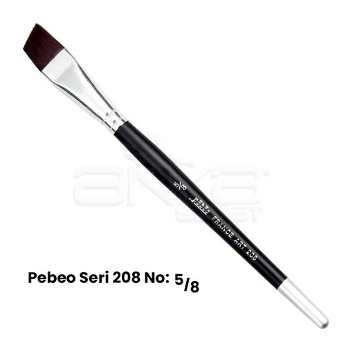 Pebeo 208 Seri Yan Kesik Uçlu Fırça