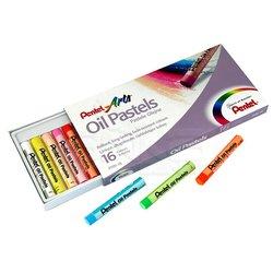 Pentel - Pentel Yağlı Oil Pastel 16 Renk (1)