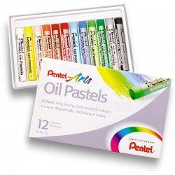 Pentel - Pentel Yağlı Oil Pastel 12 Renk (1)
