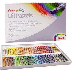Pentel - Pentel Yağlı Oil Pastel 50 Renk