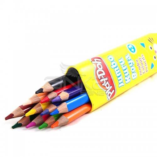 Play-Doh 12 Renk Jumbo Üçgen Tüp Kuru Boya KU006