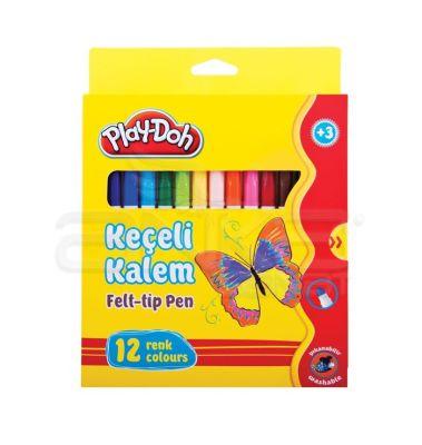 Play-Doh 12 Renk Keçeli Kalem Karton Kutu 5mm KE007
