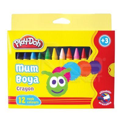 Play-Doh 12 Renk Mum Boya 11mm Büyük Boy CR005