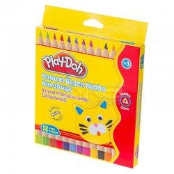 Play-Doh - Play-Doh 12 Renk Naturel Üçgen Jumbo Kuru Boya KU009