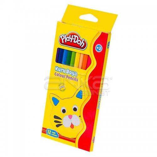 Play-Doh 12 Renk Tam Boy Kuru Boya KU001